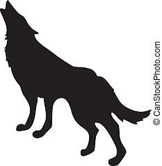 wolf, silhouette