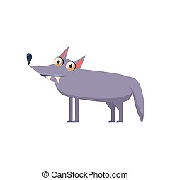 Wolf Simplified Cute Illustration