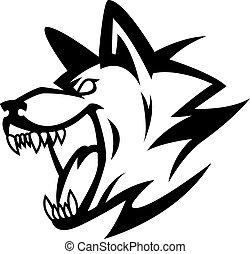 Wolf symbol illustration design