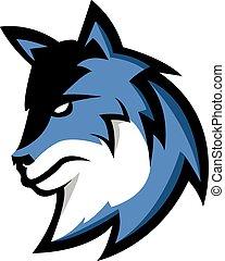 wolf, symbool, illustratie, ontwerp