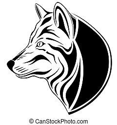 wolf, t�towierung