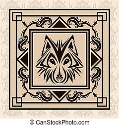 wolf tattoo animal design