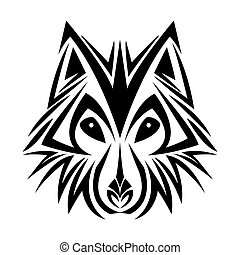 wolf tattoo animal design