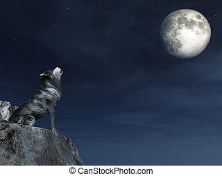 wolf, weinen