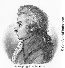 Wolfgang Amadeus Mozart - Picture from Meyers Lexicon books...