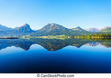 Wolfgangsee lake in Austria