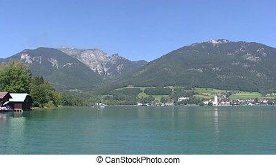 WOLFGANGSEE mountain lake + pan