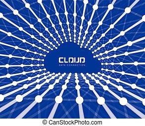 wolk, achtergrond, creatief