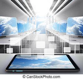 wolk, netwerk, concept