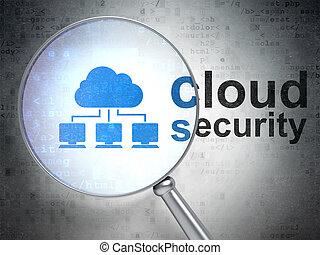 wolk, networking, concept:, wolk, netwerk, en, wolk, veiligheid, met