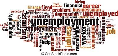 wolk, werkloosheid, woord