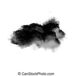 Wolke, aus, weißes, hintergrund