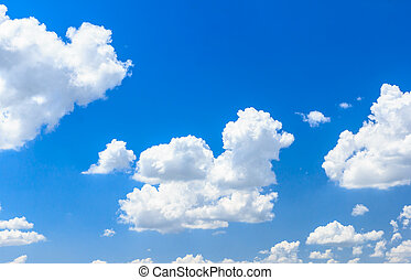 wolke, blau, himmelsgewölbe