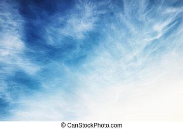 wolke blauen himmels, sonnenuntergang