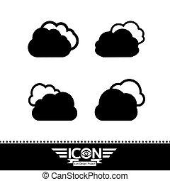 wolke, ikone