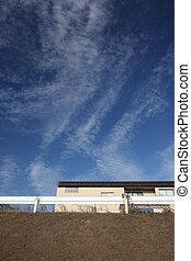 wolke, in, der, himmelsgewölbe