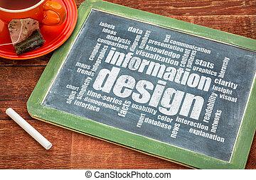 wolke, informationen, wort, design