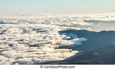 wolke, meer, in, der, nationalpark, von, teide