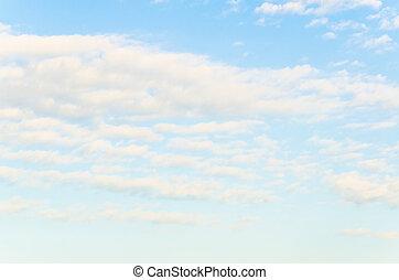 wolke, mit, himmelsgewölbe, hintergrund