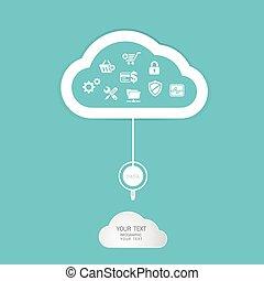 wolke, rechnen, technologie, abstrakt