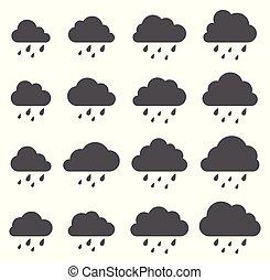 wolke, weißes, sturm, hintergrund, regen