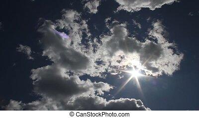 wolken, en, hemel