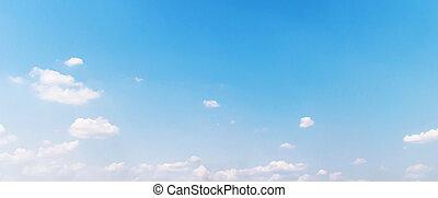 wolken, in, de, blauwe hemel