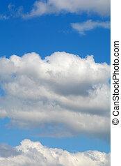 wolken, met, blauwe hemel, in, zomer, seizoen