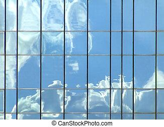wolken, reflectie
