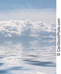 wolken, zee