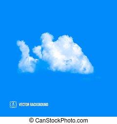 wolkenhimmel, auf, blaues, sky., vektor