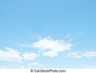 wolkenhimmel, auf, himmelsgewölbe