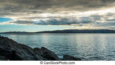 wolkenhimmel, FEHLER, -, schlechte, Wetter, Kroatien, Zeit,...