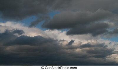wolkenhimmel, fehler, schnell, bewegen, sturm, zeit