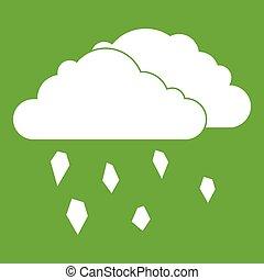 wolkenhimmel, grün, hagel, ikone