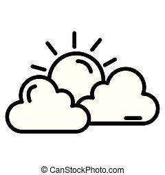 wolkenhimmel, himmelsgewölbe, sonne