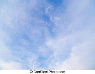 wolkenhimmel, in, der, blauer himmel