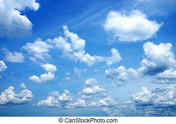 wolkenhimmel, in, der, blaues, sky., (cirrus, cloud)