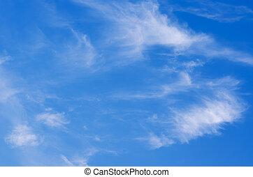 wolkenhimmel, in, der, himmelsgewölbe