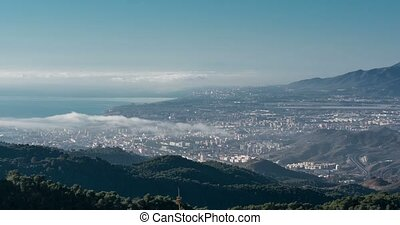 wolkenhimmel,  Malaga, FEHLER, aus, Andalusien, Zeit, Spanien