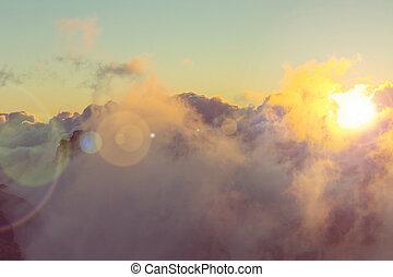 wolkenhimmel, oben