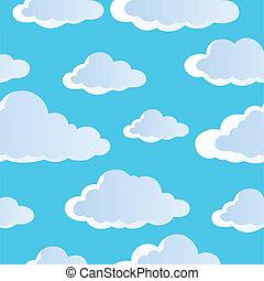 wolkenhimmel, seamless, hintergrund, 4