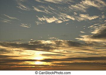 wolkenhimmel, sonnenuntergangshimmel