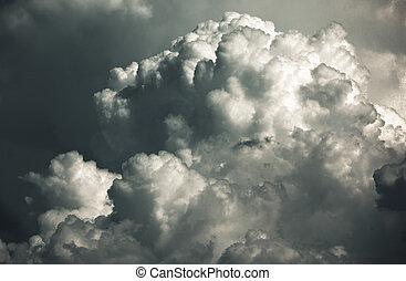 wolkenhimmel, stürmisch