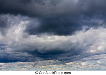 wolkenhimmel, stürmisch, hintergrund