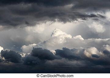 wolkenhimmel, sturm