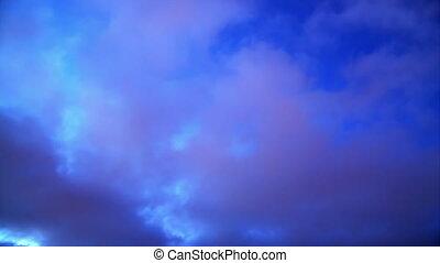 wolkenhimmel, tag nacht, zeit-versehen