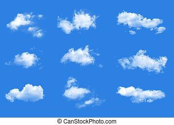 wolkenhimmel, vektor, sammlung