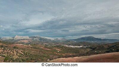 wolkenhimmel, zeit- versehen, andalusien, spanien