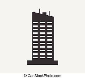 wolkenkrabber, pictogram